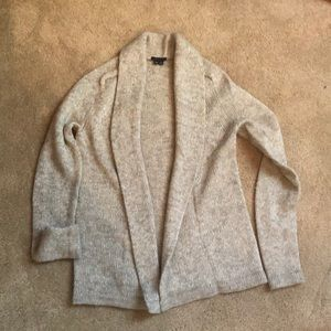 Theory beige cardigan with small silver flecks
